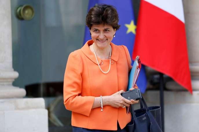Sylvie Goulard, alors ministre des armées, au palais de l'Elysée, à Paris, le 31 mai 2017.