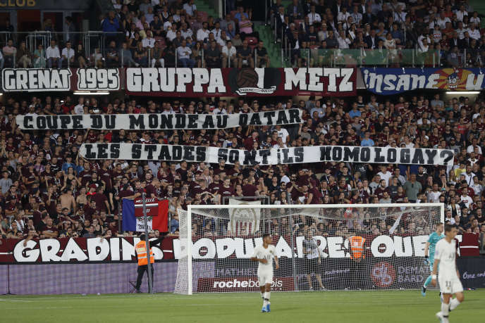 Lors du matche Metz-PSG, le 30 août.