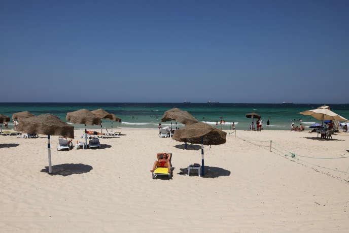 Une plage de Sousse, en Tunisie, le 2juillet 2019.