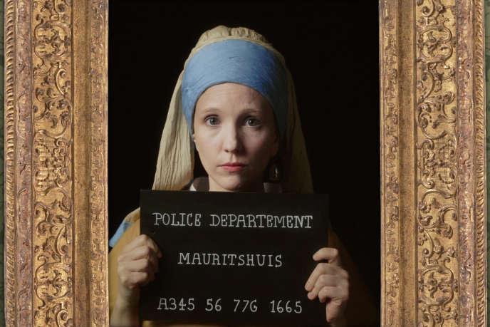 « La Jeune Fille à la perle», deVermeer, revisitée par la série courte«A musée vous, à musée moi».