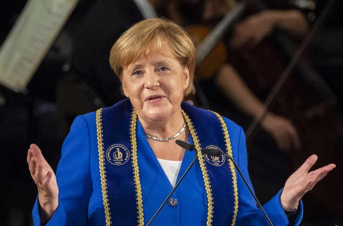 Angela Merkel, à Leipzig, le 31 août.