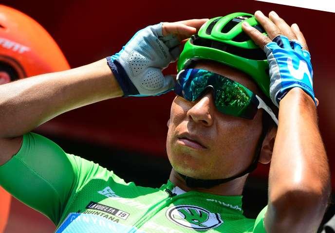 Nairo Quintana a gagné un Tour d'Italie (2014) et un Tour d'Espagne (2016) et fini deux fois deuxième (2013, 2015) et une fois troisième (2018) du Tour de France.