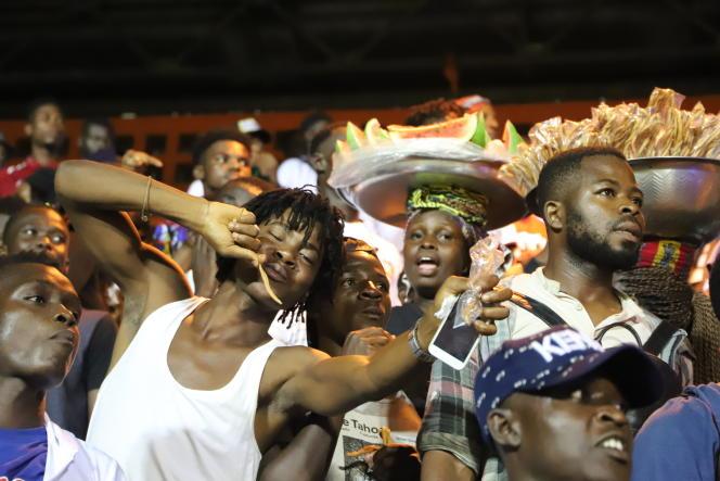 Lors de la cérémonie d'hommage à DJArafat, au stade Félix-Houphouët-Boigny, à Abidjan, le 30août 2019.