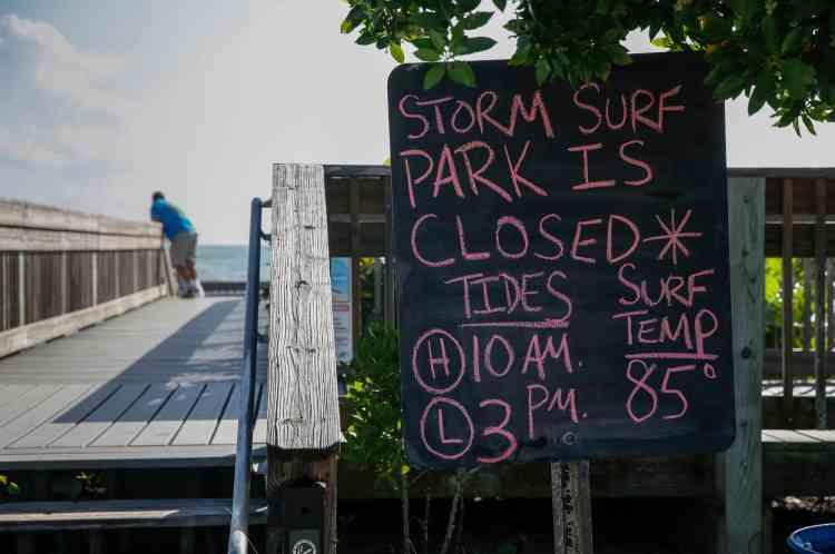 L'entrée du parc de Wambasso Beach a été fermée.