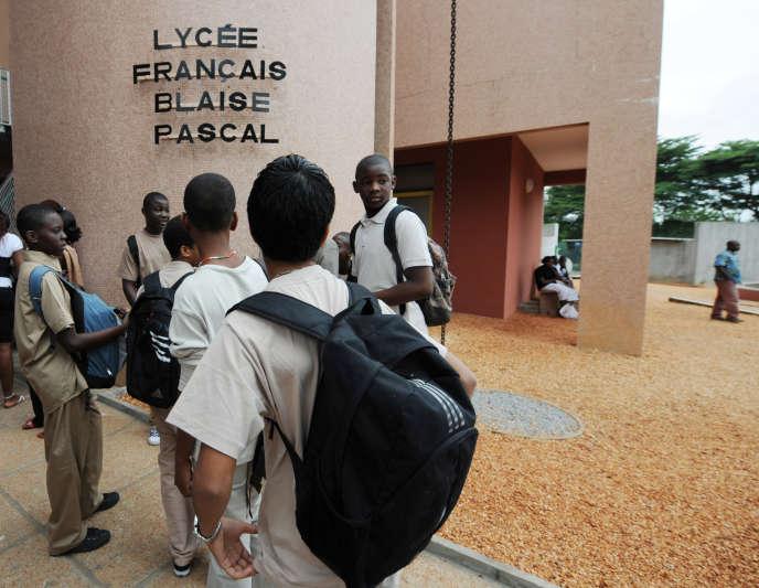 Rentrée au lycée français Blaise-Pascal, à Abidjan, en Côte d'Ivoire, le 2septembre 2018.