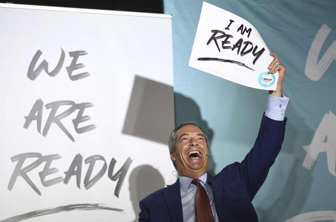 Nigel Farage en meeting à Colchester, dans l'est de l'Angleterre, le 2 septembre.