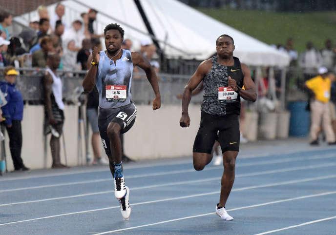 Les Américains Noah Lyles et Christian Coleman font partie des quatre athlètes qui, cette année,ont couru le 100m sous les 9 s 90.