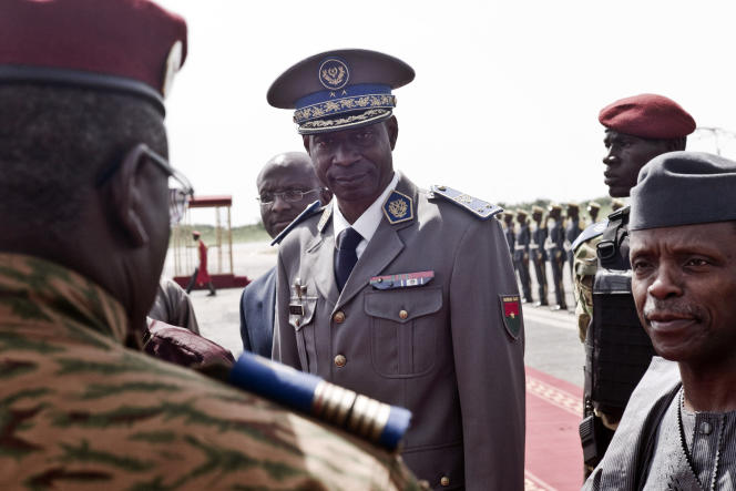 Le général Gilbert Diendéré à Ouagadougou, en septembre 2015.