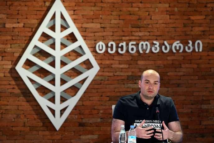 Mamuka Bakhtadze, le premier ministre géorgien, annonce sa démission lors d'une conférence de presse, le 2 septembre 2019 à Tbilissi.