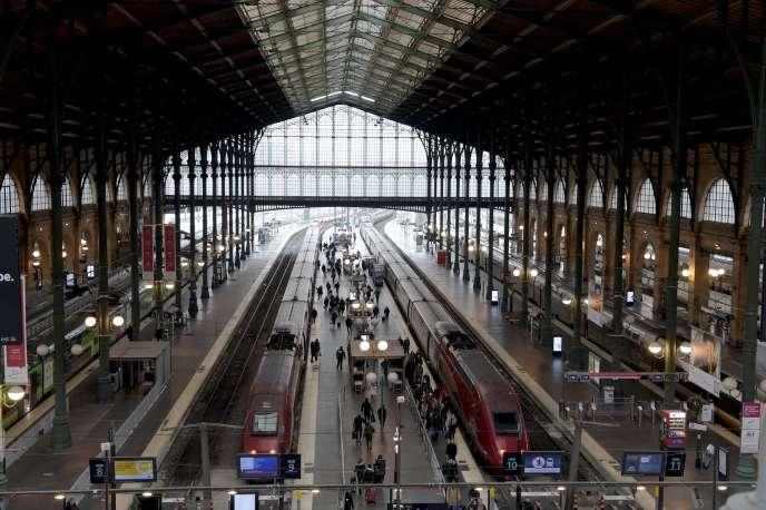 Le hall de la gare du Nord, à Paris, le 11 janvier.