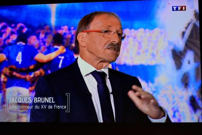 Jacques Brunel, dans les locaux de TF1, lundi 2 septembre.
