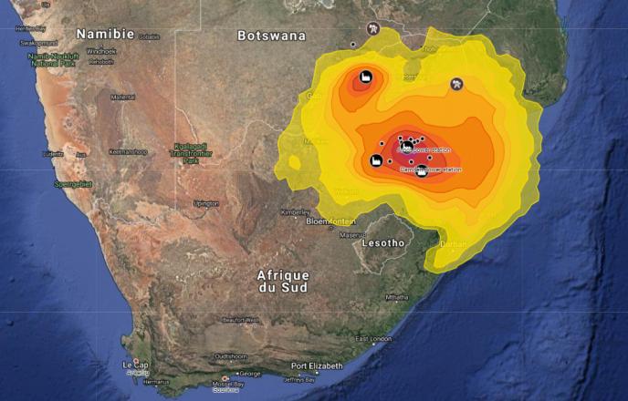 Extrait de la carte interactive publiée par Greenpeace.