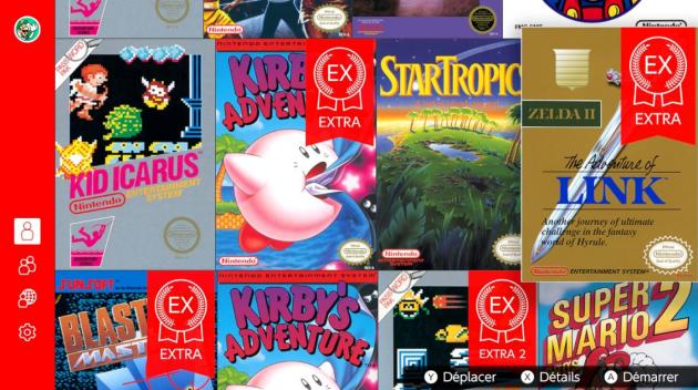 Les versions« EX» (pour« Extra») des jeux NES ne lésinent pas sur les aides et les bonus cadeaux pour aider le joueur.