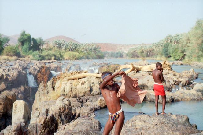 Les chutes d'Epupa, dans la région de Kunene, dans le nord-ouest de la Namibie, en août 2019.