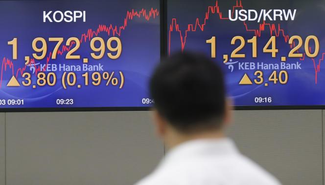 A la Bourse de Séoul, le 23 septembre 2019.