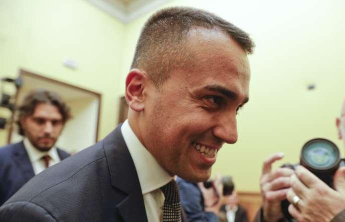 Le chef du Mouvement 5 étoiles, Luigi Di Maio, annonce les résultats de la consultation des adhérents de son parti, mardi 3 septembre.