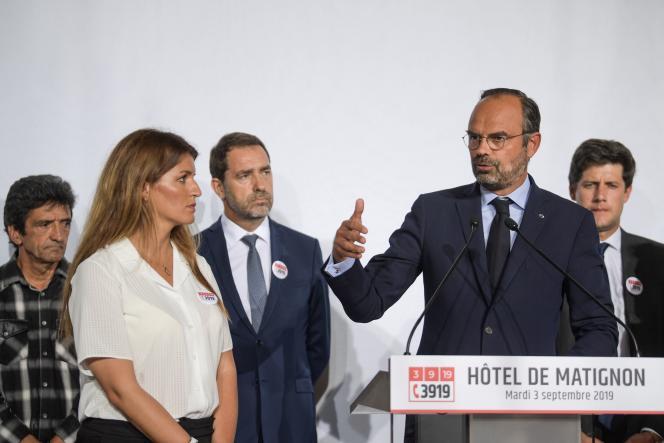 Le premier ministre, Edouard Philippe, a lancé, mardi 3 septembre, le Grenelle des violences conjugales, à Matignon.