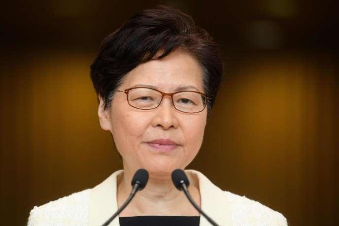 La chef de l'exécutif de Hongkong, Carrie Lam, le 3 septembre.