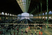 Vue de l'intérieur de la gare du Nord, à Paris.