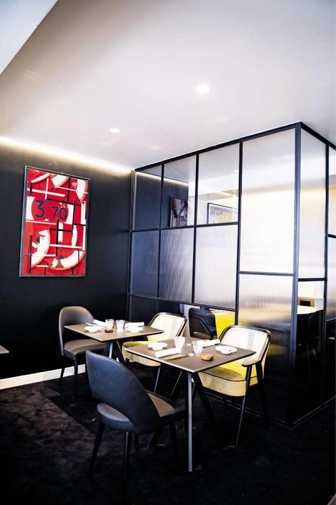 Le restaurant Fleur de pavé, à Paris, dans le 2e arrondissement.