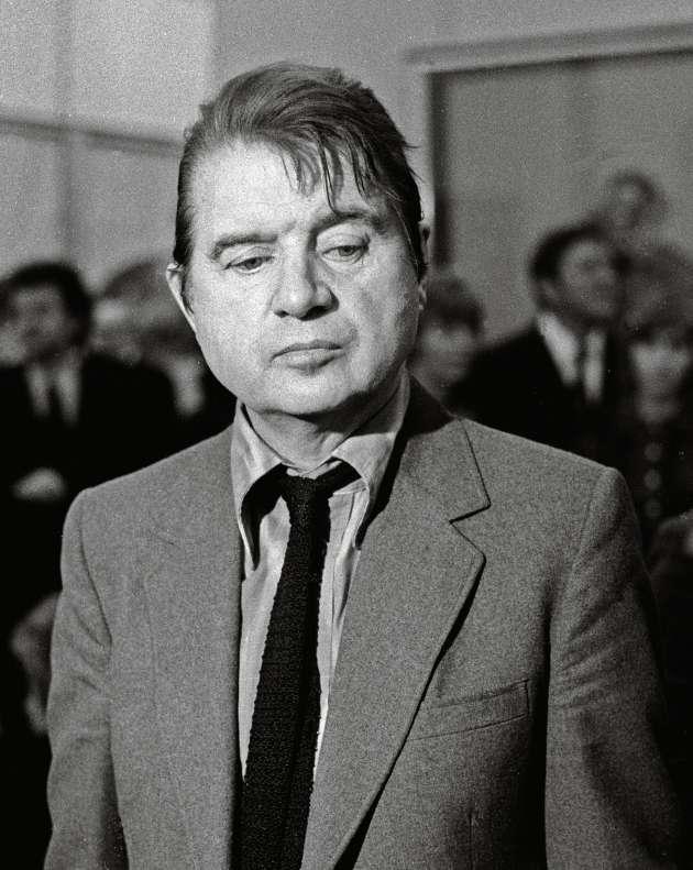Francis Bacon le 26octobre 1971 au Grand Palais, à Paris.