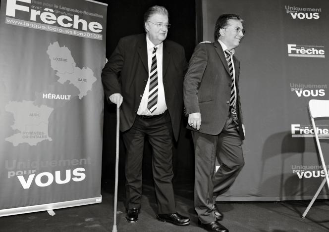 Georges Frêche et Robert Tropéano, en 2010.
