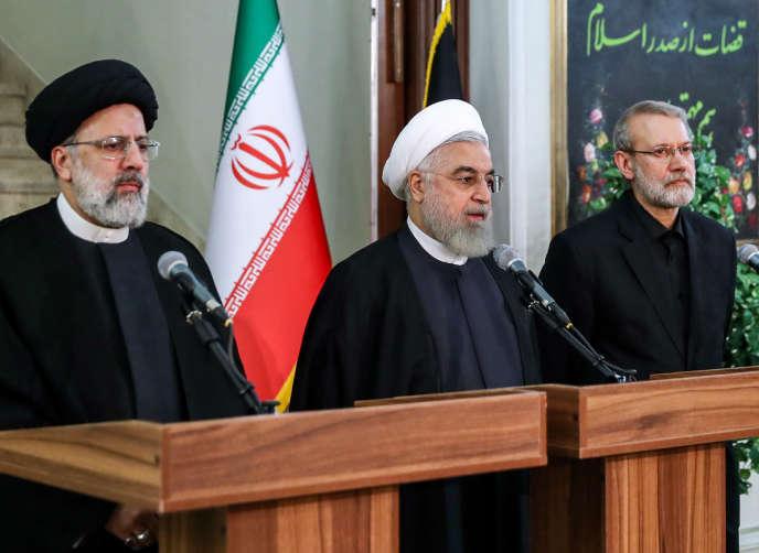 Le président iranien Hassan Rohani (au centre), à Téhéran, le 4 septembre.