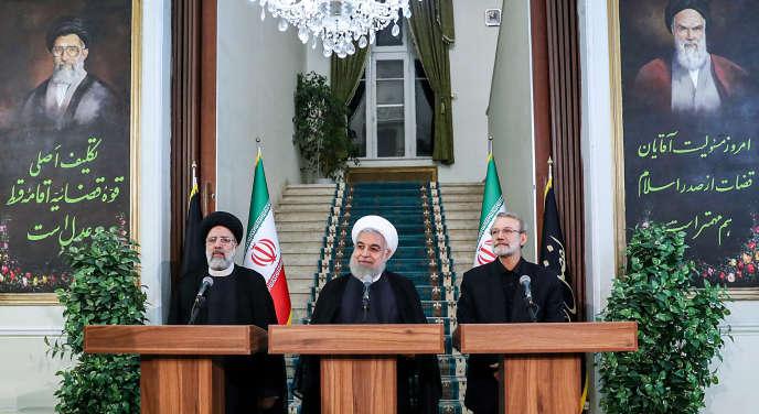 Hassan Rohani lors de son discours, à Téhéran, le 4 septembre.