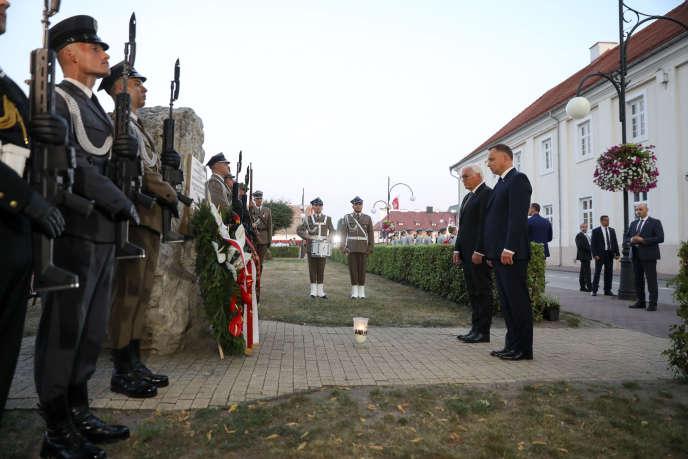 Le président allemand et son homologue polonais lors des commémorations de la seconde guerre mondiale, le 1er septembre à Wielun (Pologne).