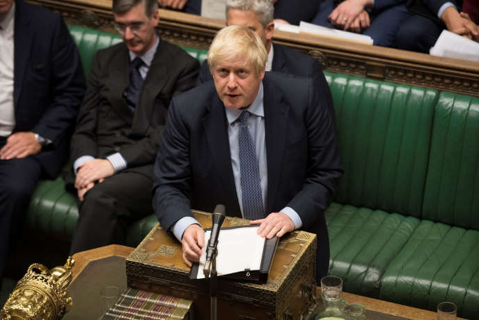 Le premier ministre britannique, Boris Johnson, lors des débats à la Chambre des communes, le 4 septembre.