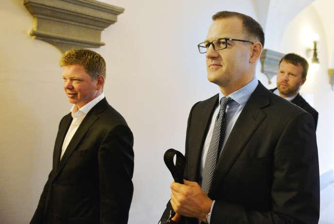 Daniel Kretinsky (à droite), à Plzen, en République tchèque, en mai 2018.