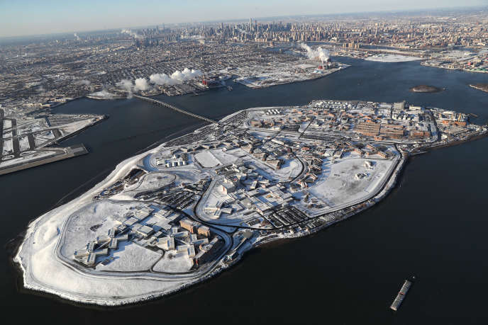 Vue de la prison new-yorkaise de Rikers Island, en janvier 2018.