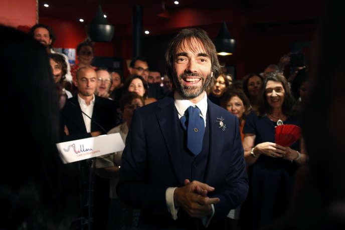 Cédric Villani lors de l'annonce de sa candidature à la mairie de Paris, le 4 septembre.