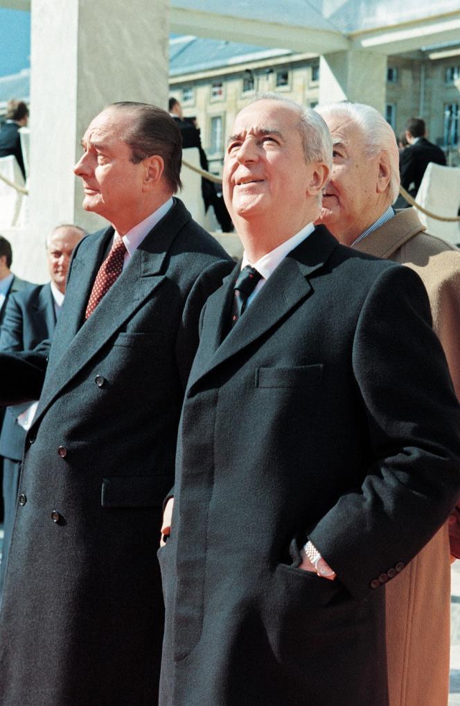 Jacques Chirac et Edouard Balladur, en 1995.