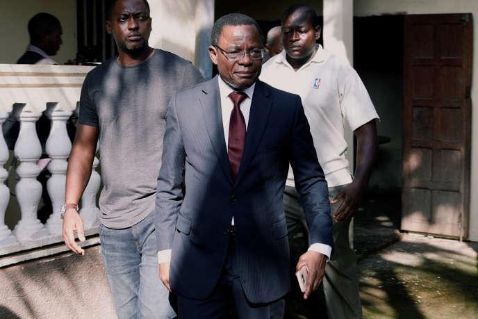 Maurice Kamto, alors candidat à l'élection présidentielle, au lendemain du scrutin, à Yaoundé, le 8octobre 2018.