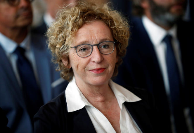 La ministre du travail,Muriel Pénicaud, le 5 septembre, à Beaulieu-sur-Layon (Maine-et-Loire).