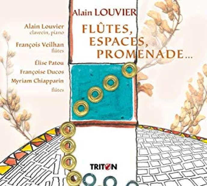 Pochette de l'album«Flûtes, espaces, promenade…», d'Alain Louvier.