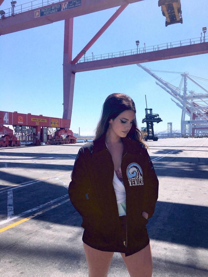 Lana Del Rey à Long Beach, Californie, en juillet.