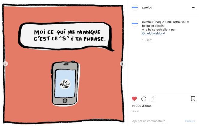 Extrait du compte Instagram «exrelou». Dessin de Mélody Leblond.