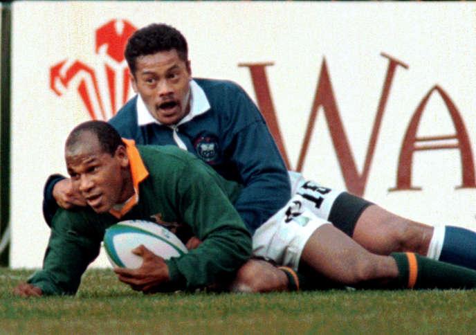Blessé lors du premier tour, Chester Williams avait débuté sa Coupe du monde 1995 en quart de finale, inscrivant notamment quatre essais contre les Samoa Occidentales.