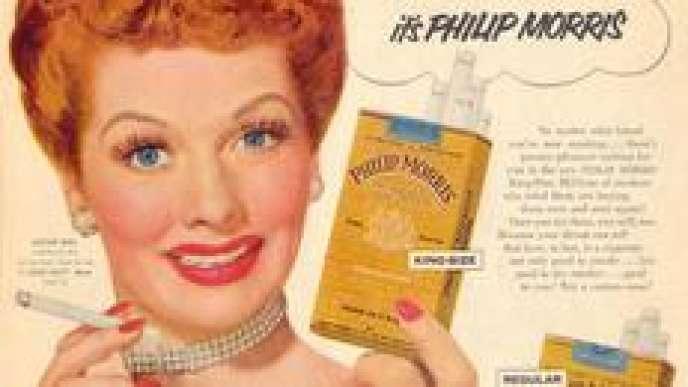 Campagne publicitaire pour les cigarettes «Philip Morris» (1953).