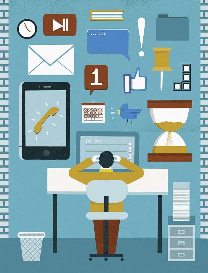 «Nombre de salariés reconnaissent les atouts des messageries instantanées, grâce auxquelles l'essentiel peut être dit en quelques mots. Mais la médaille a, pour certains, son revers. »