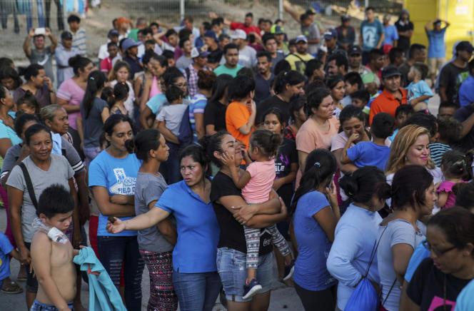 Dans un camp de migrants à Matamoros, au Mexique, le 30 août.