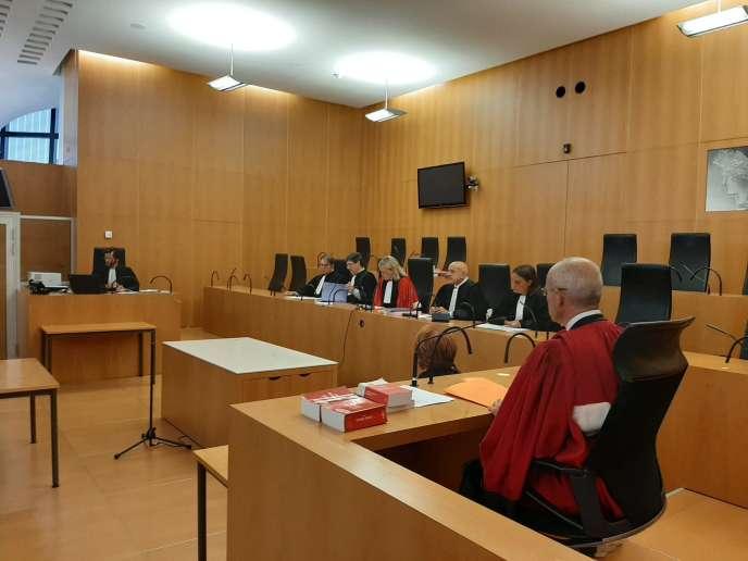 Les magistrats de la cour criminelle départementale du Calvados,à Caen, avant l'ouverture du premier procès de cette nouvelle juridiction.