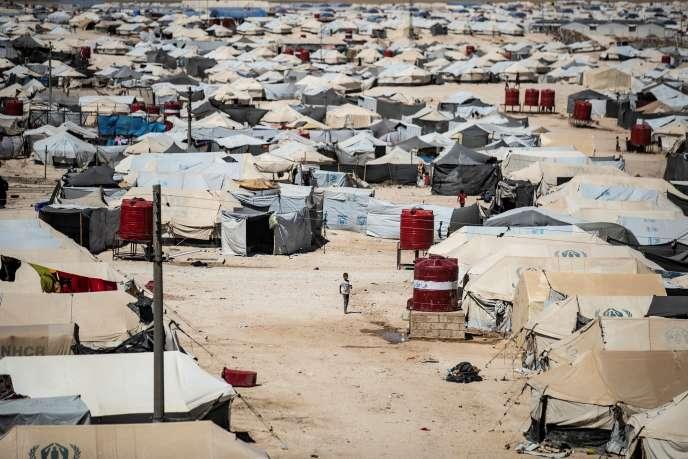 Le camp de réfugiés d'Al-Hol, dans le nord-est de la Syrie, en août 2019.