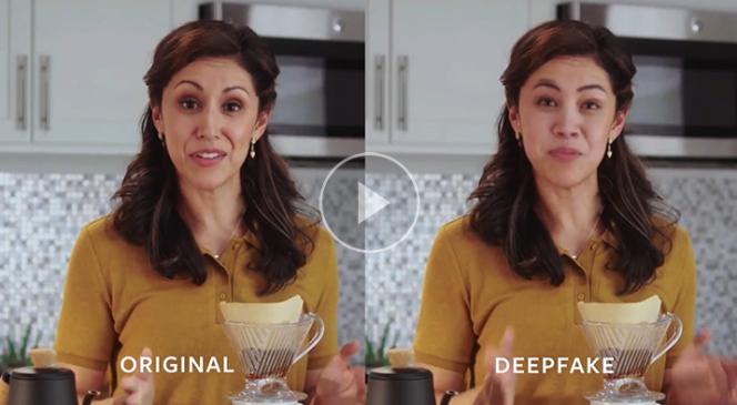 Un extrait de la vidéo Facebook expliquant les technologies« deepfake», dans le cadre de sonDeepfake Detection Challenge.