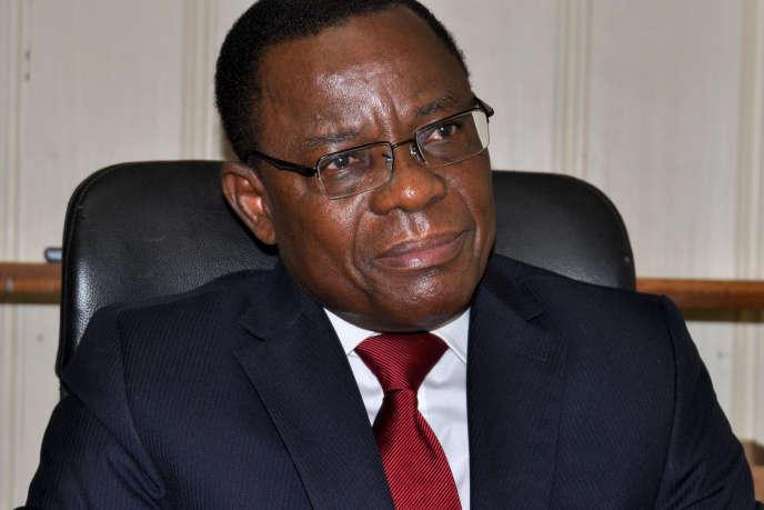 Maurice Kamto, le président du Mouvement pour la renaissance du Cameroun (MRC), enaoût2018.