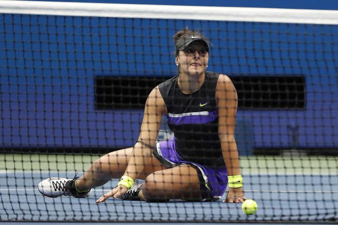 Bianca Andreescu, après sa victoire contre Serena Williams en finale de l'US Open, samedi7septembre.