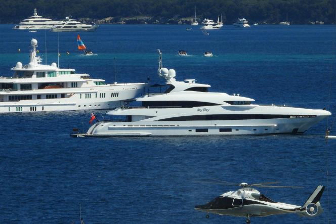 Des yachts en mai lors du festival international du film de Cannes.