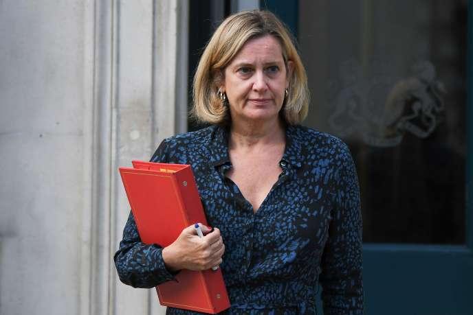 La ministre du travail, Amber Rudd, le 2 septembre à Londres.